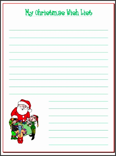 doc printable santa wish list 20 free printable printable santa list templates l b6c46f2a93d8718d