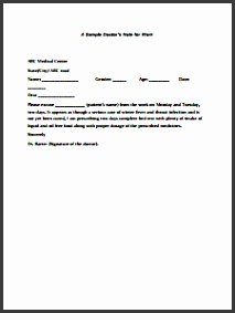 Doctors Note for Work Template Download Create Edit Fill and Print