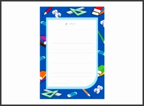 Back to School Lined Writing Paper Template