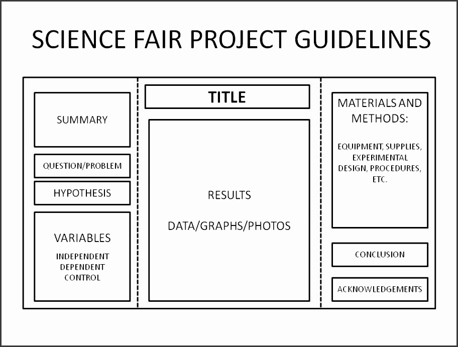 science fair poster template science fair project board layout backboard basics for science fair projects science fair coach