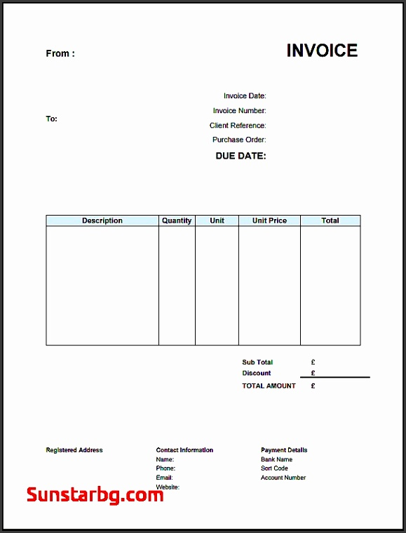 Self Employed Invoice Template In Invoice for Business Unique Invoice Templates Uk Madrat