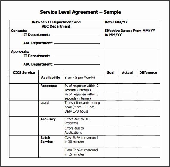 service level agreement template australia sample service agreement it service contract agreement template free