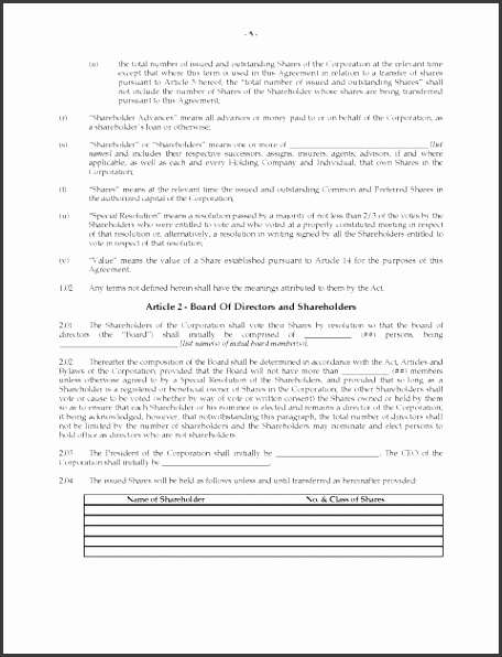 holder Agreement Template Alberta Unanimous Legal Forms And Businessolders Free Download Uk New Zealand Canada holders