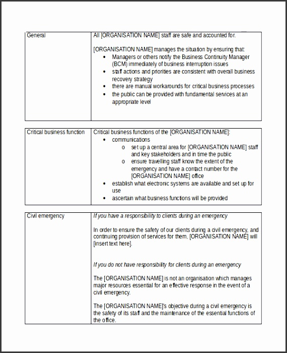 Sample Short Business Plan Template Free Documents Download