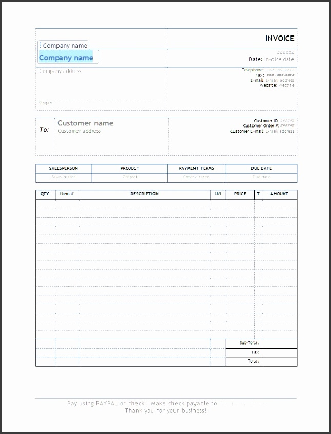 Free Invoice Template Simple Invoice Template Free Luxury Invoice Automated for Word