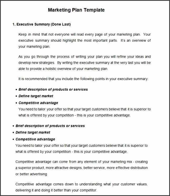 Strategic Marketing Plan Template Free Word Pdf Documents