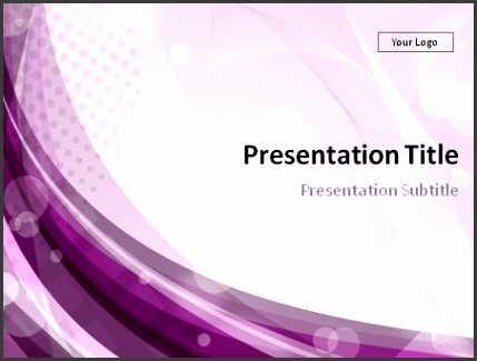 Smooth purple abstract background PowerPoint template preview