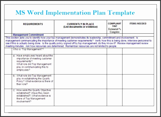 Simple Gap Assessment Format Template Projectemplates Excel microsoft word action plan template