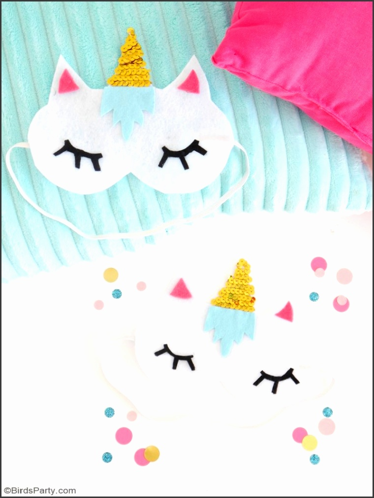 e of my favourite projects from last week s party were these adorable unicorn sleep masks from Bird s Party