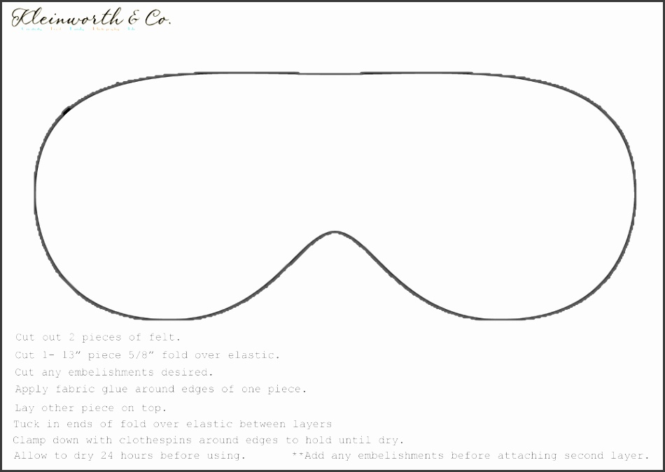 Eye mask template ivoiregion for Spa mask invitation template
