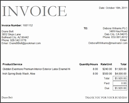 Bank Invoice Format Excel Template Project Management Business small business invoice templates