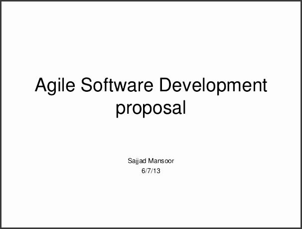 Agile Software Development proposal Sajjad Mansoor 6 7 13
