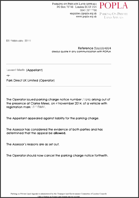 parking ticket appeal template testhome