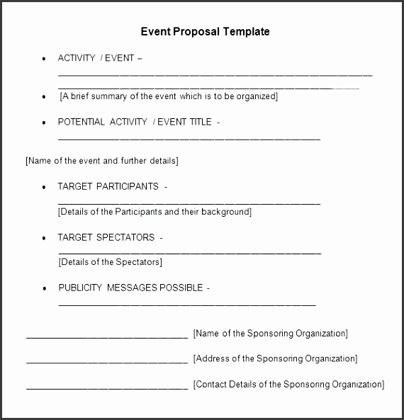 event proposal template event proposal template word event sponsorship proposal template free