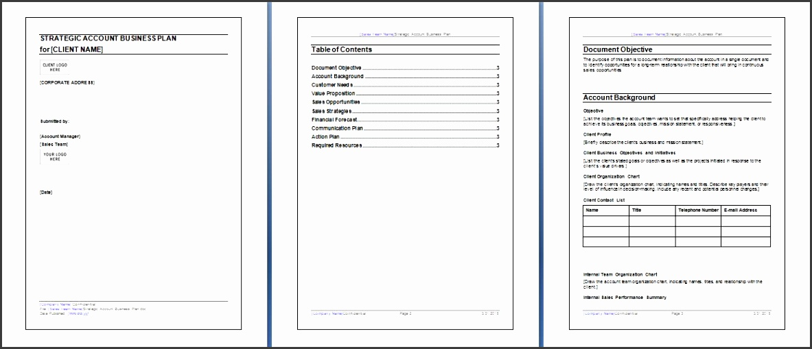 microsoft word and excel 10 business plan templates formal word