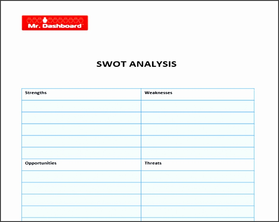 SWOT Template PDF SWOT Analysis Template PDF