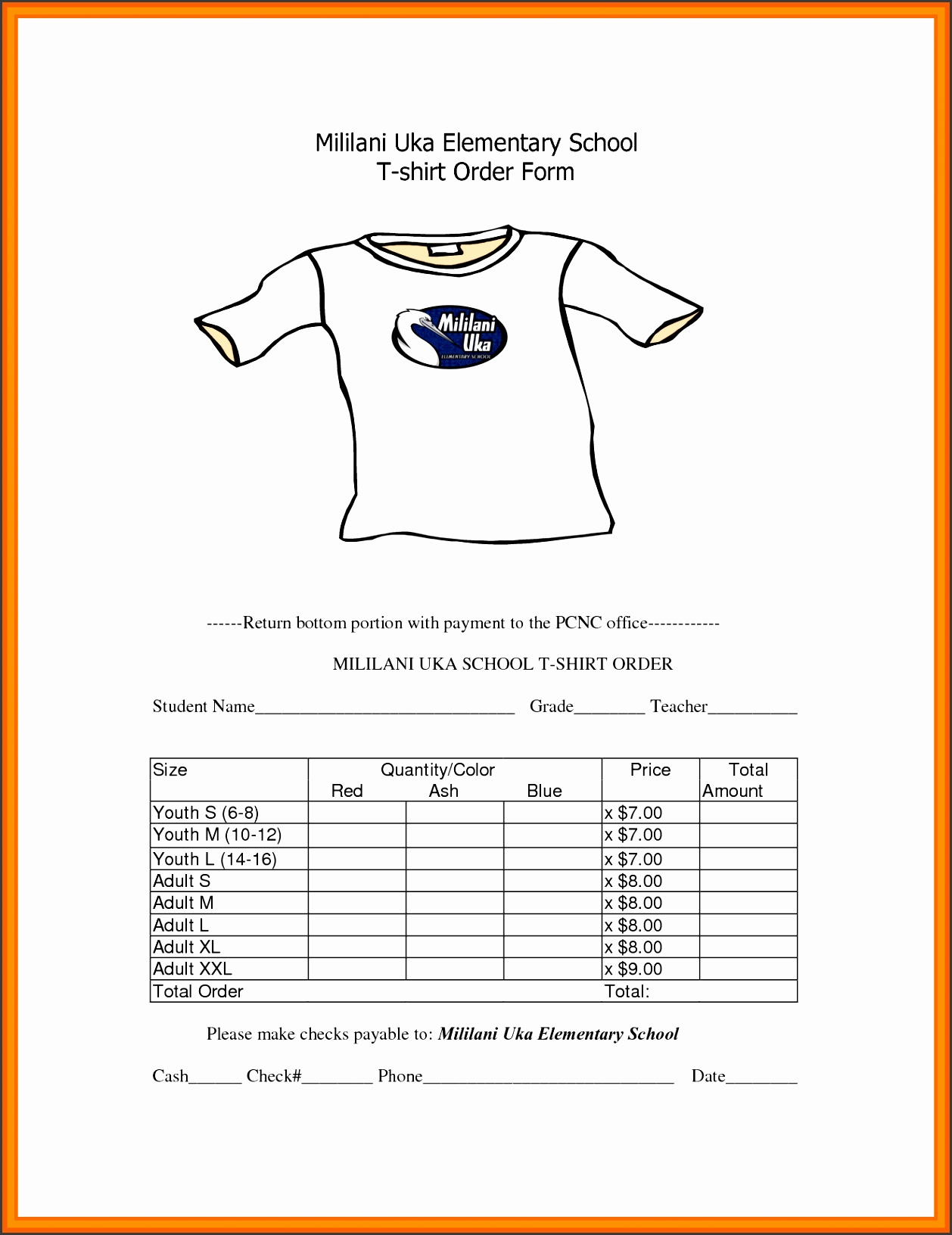 t shirt order form template t shirt order