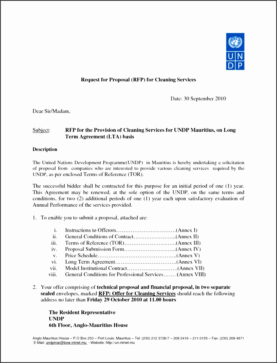 fice Cleaning Proposal Sample Free mercial Bid pany Form