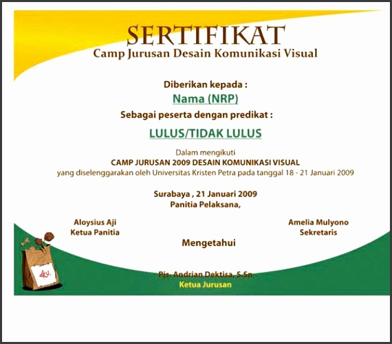 Design Template Certificate