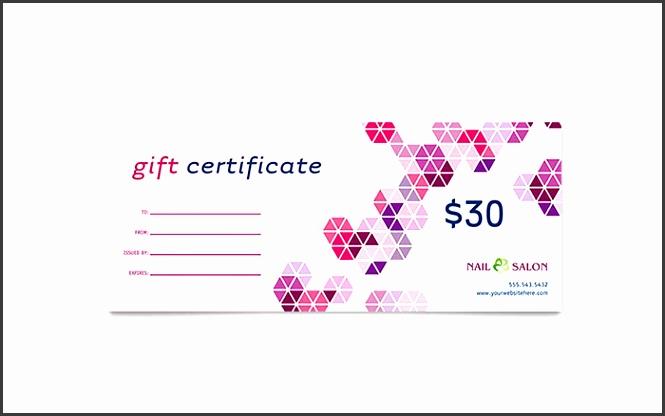 Nail Salon Gift Certificate Template Design Beauty Gift Vouchers Templates