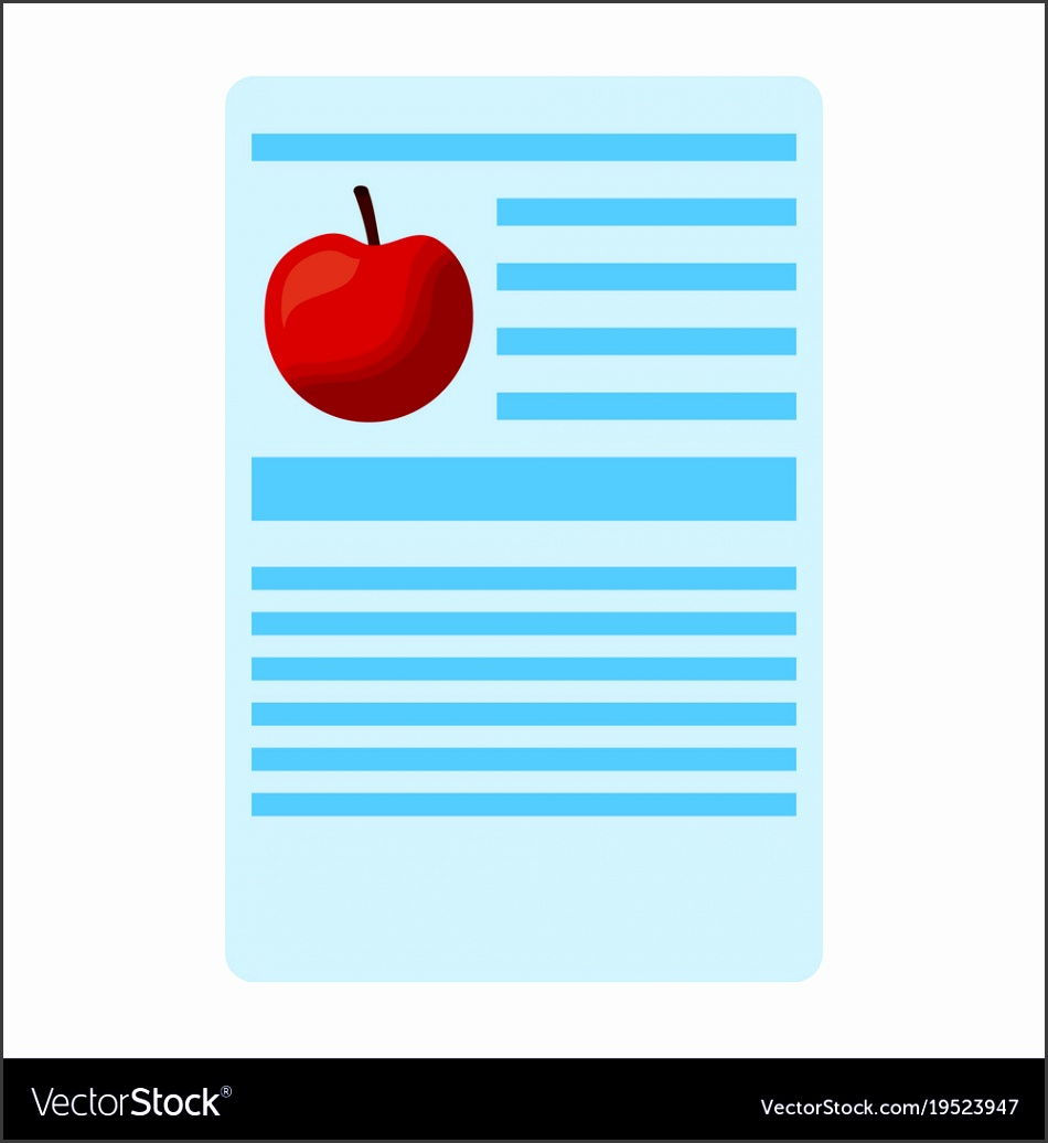 Apple nutrition facts label template vector image