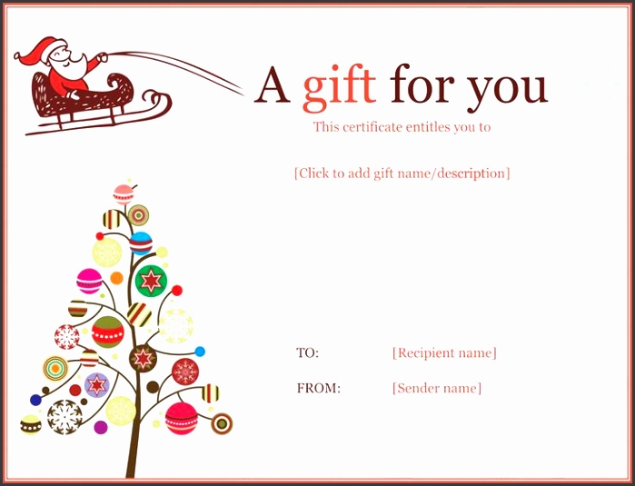Christmas Ball Trees Gift Certificate Template