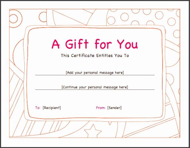 Gift Voucher Template DOC