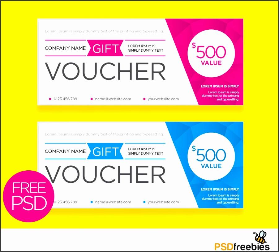 Clean And Modern Gift Voucher Template PSD