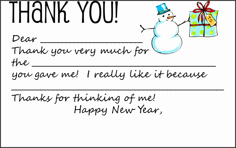 Holiday Thank You Note Template