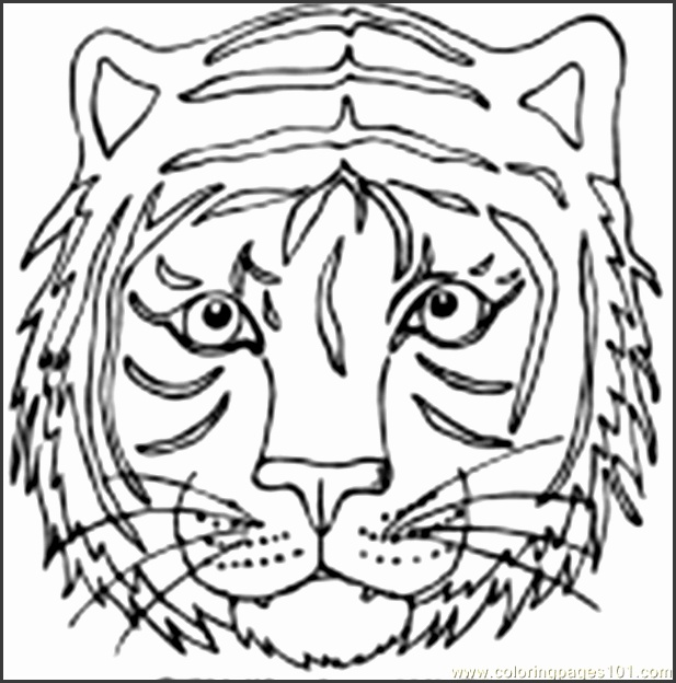 tiger mask coloring pages photo 12