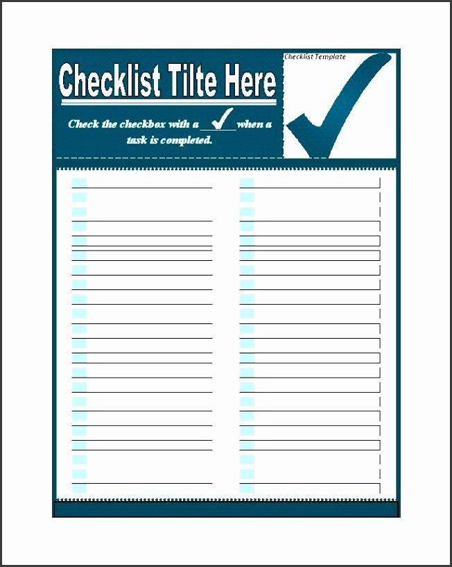 Printable Checklist Template 04