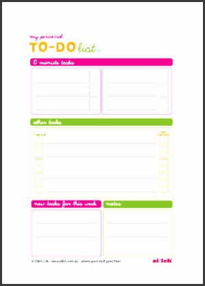 Free personal to do list printable template