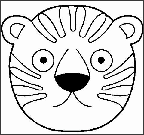 animal faces coloring pages tiger face coloring page colouring in animal masks tiger mask template tiger