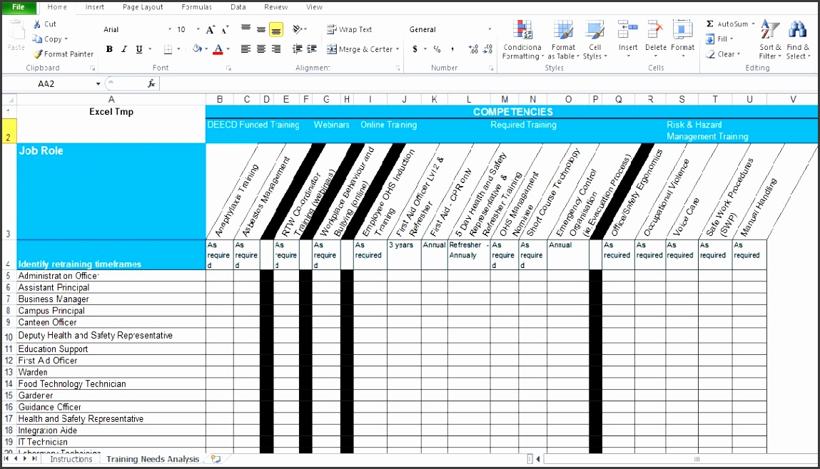 Matrix Template Excel Free Download - Bing
