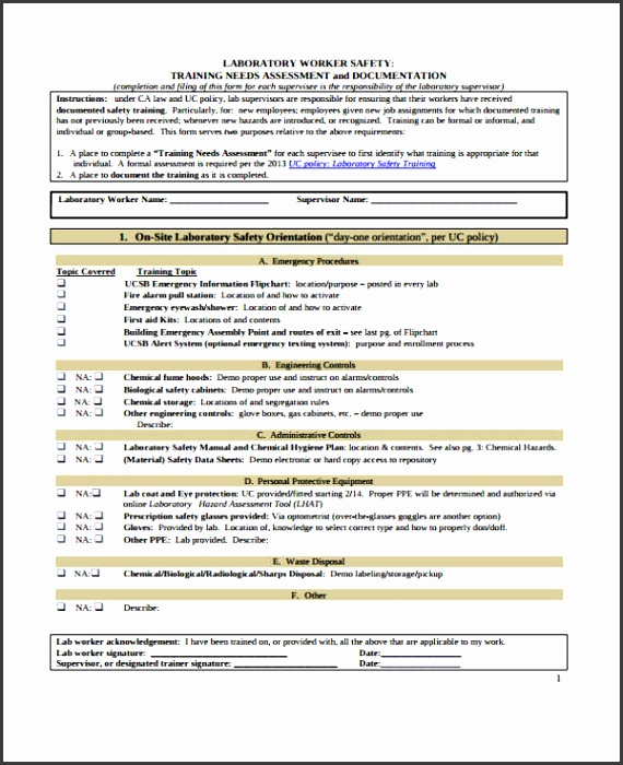 manual training needs assessment form