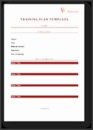 Training Plan Template 5