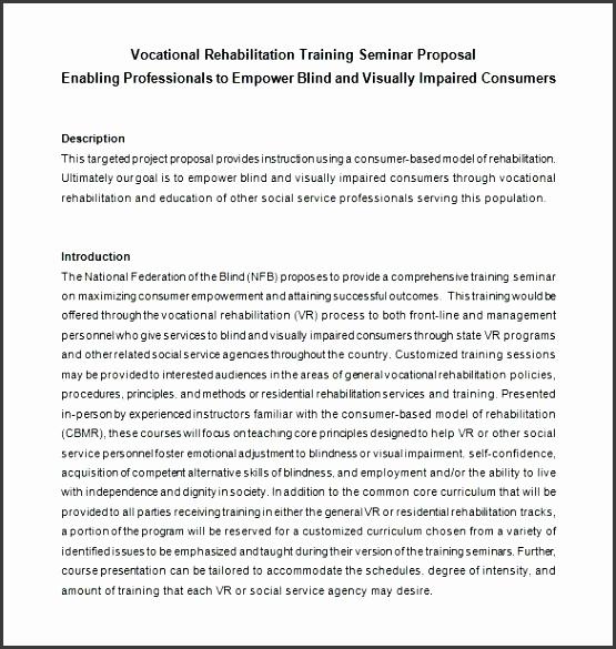 customer service training proposal sample pdf seminar free templates example format doc training proposal template