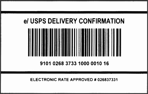 Shipping Label template 548