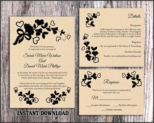 Vintage Wedding Invitation Templates To her With A que View Your Wedding Invitation Templates Using Divine Invitations 16
