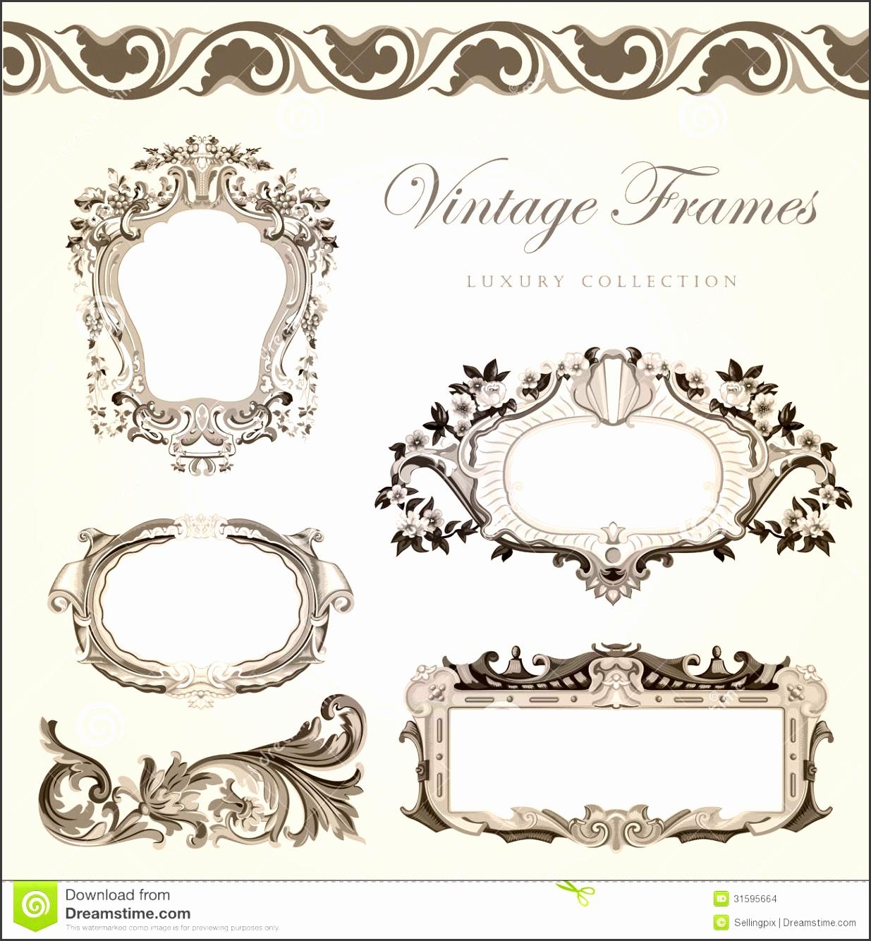 vintage invites templates