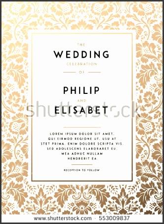 Vintage Wedding Invitation template Modern design Wedding Invitation design with damask background Tradition