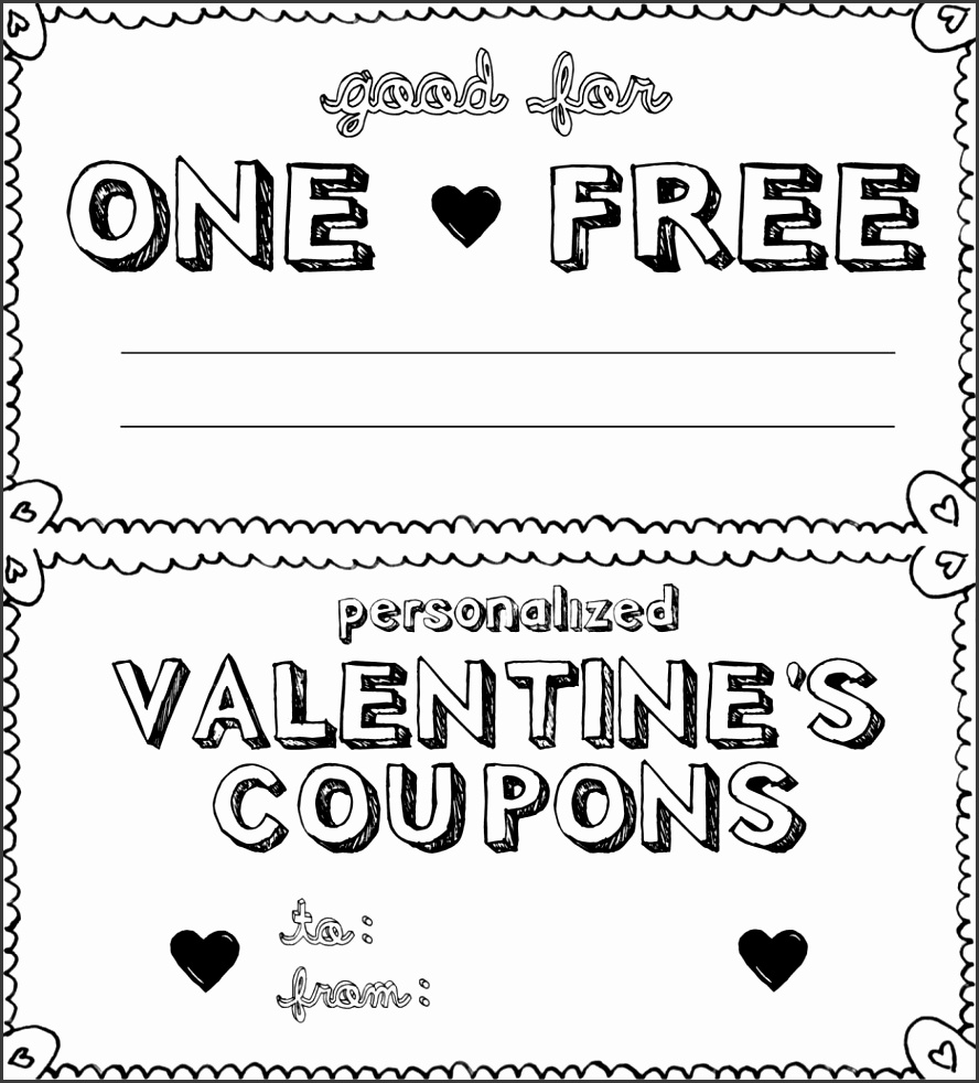 Pretty Valentines Coupon Book s Valentine Coupon Book