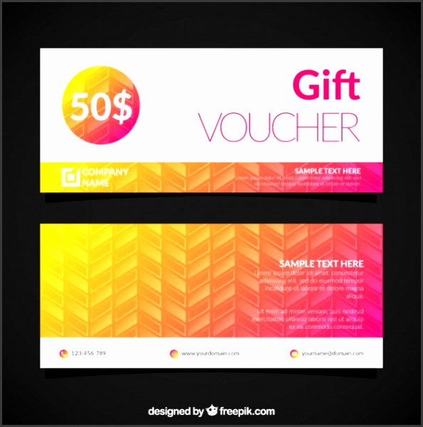 Gift Voucher Template Free Vector