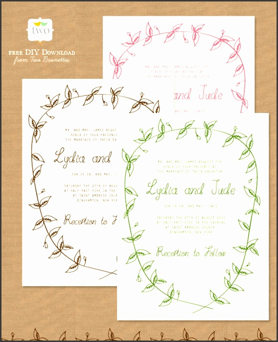 Free Wedding Stationery Templates Free Wedding Invitations Template Kmcchain Download