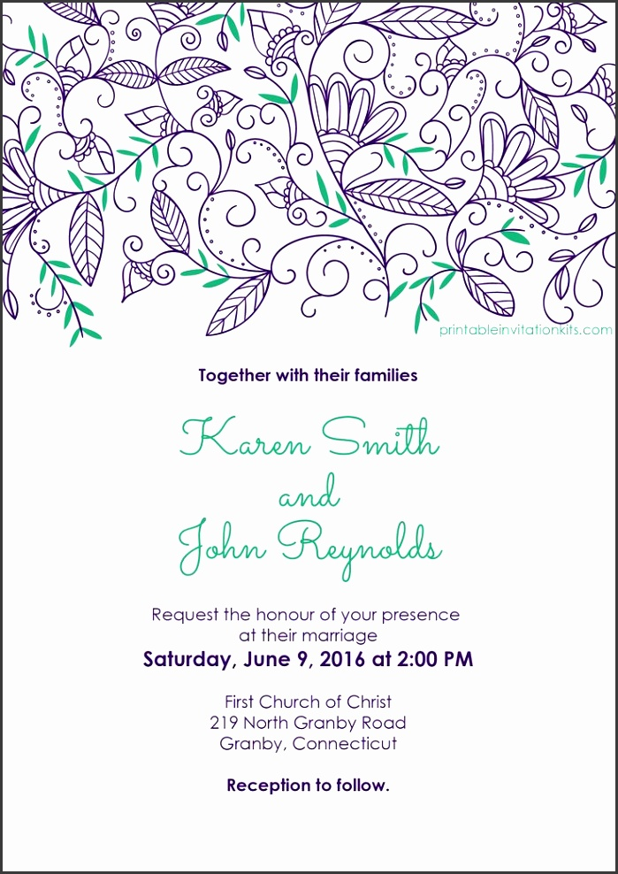 Wedding Invitation Templates Free Download With Artistic Invitations For Resulting An Extraordinary Outlook Your Wedding