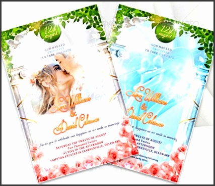 Wedding Invitation Card Templates PSD