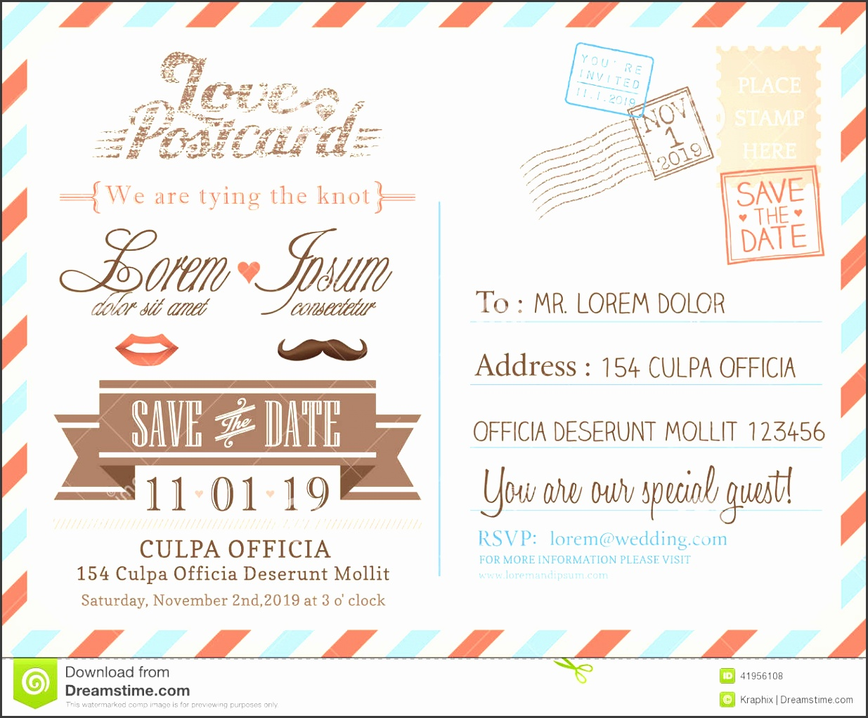 Postcard Wedding Invitations Template Free Vintage Airmail Postcard Background Template For Weddi With Wedding Card Templates