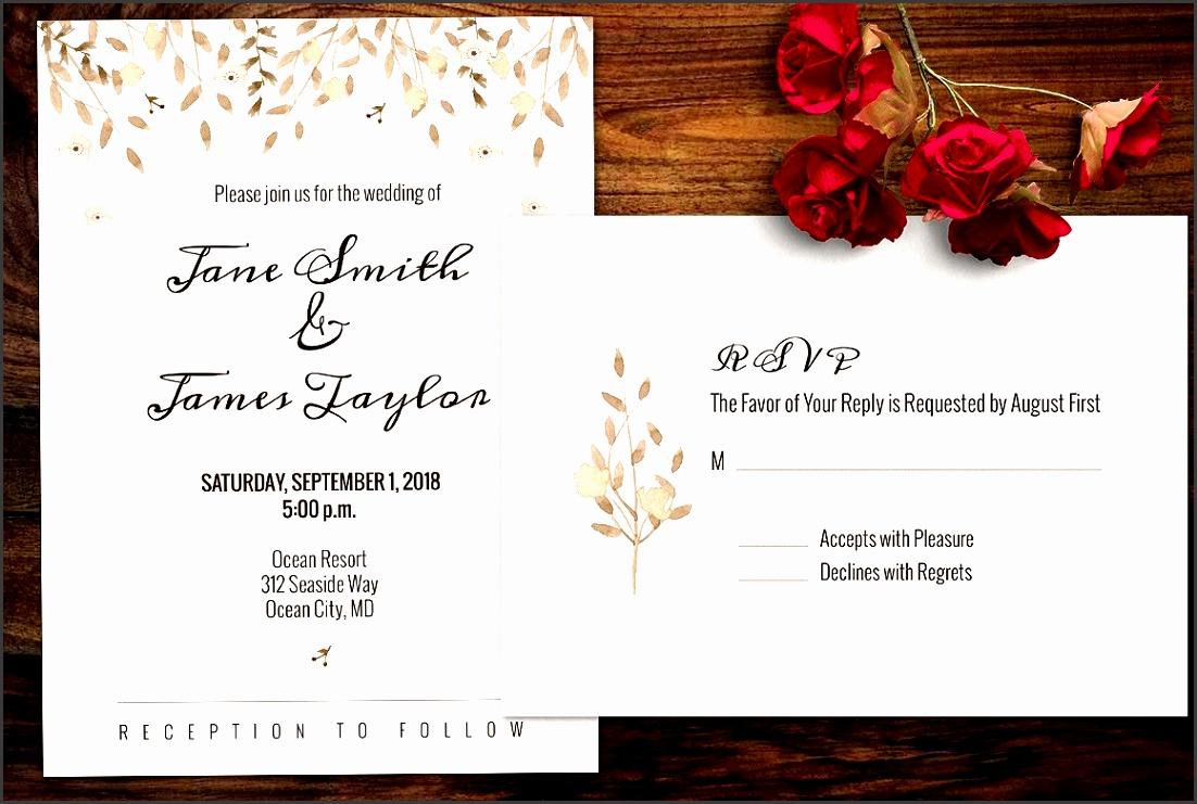 Watercolour Wedding Invitation Invitation Templates Creative Market
