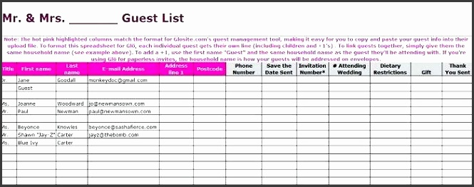 wedding list templates beautiful wedding guest list itinerary templates free wedding list excel template wedding list templates