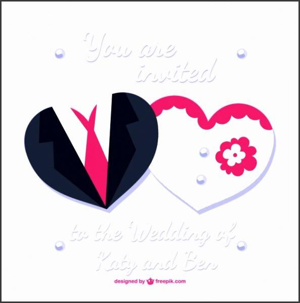 Bride and groom wedding card desing Free Vector